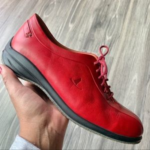 Murtosa Red Leather Lace Up Shoes